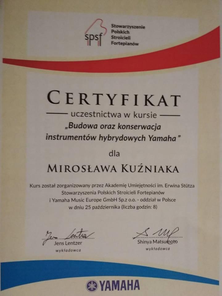 Budowa oraz konserwacja instrumentów hybrydowych Yamaha